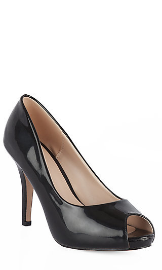 Black Peep Toe 2 1/2