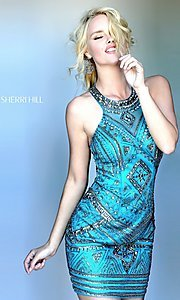 Beaded Embellished Prom Dress by Sherri Hill