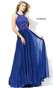 Sleeveless Long Sherri Hill Formal Dress