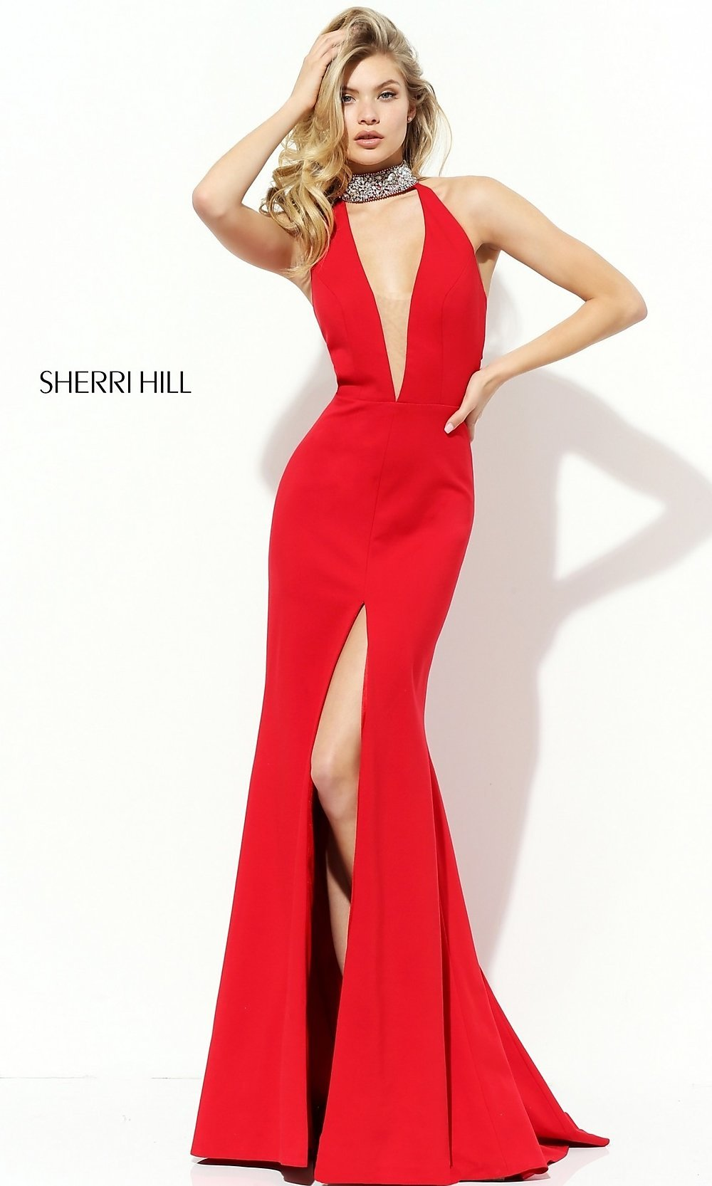 a6ae8be6851 Red Beaded Backless Prom Dress - Gomes Weine AG