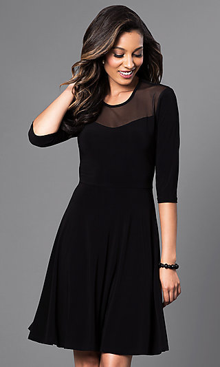 Black dress temptation 6 panel