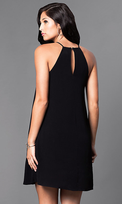 Short Black Spaghetti Strap Dress
