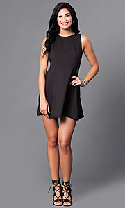 Image of sleeveless short a-line semi-casual party dress. Style: VJ-LD41093 Detail Image 2