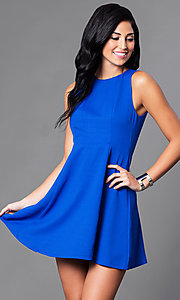 Sleeveless Short A-Line Semi-Casual Party Dress