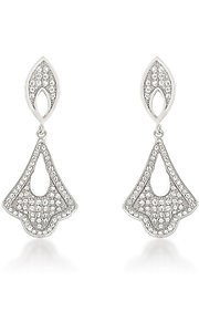 Silver Drop Earrings by Le Chic