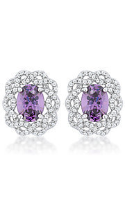 Cubic Zirconia Earrings by Le Chic