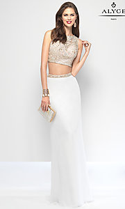 Jersey Sleeveless Two Piece Alyce Formal Dress