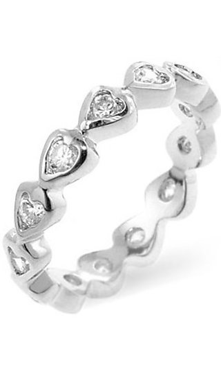 Silver Heart Ring by Le Chic