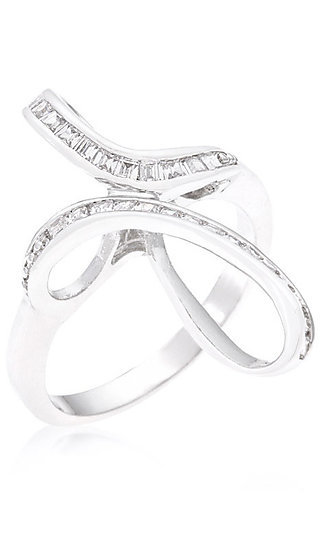 Silver Loop Ring by Le Chic