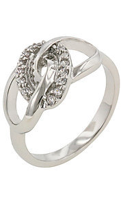 Cubic Zirconia Links Ring by Le Chic