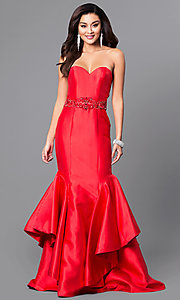 Long Strapless Milano Formal Dress