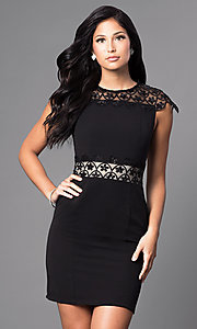 Short Black Sheath Party Dress