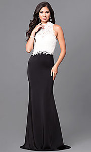 Long Milano Formals Open Back Formal Prom Dress