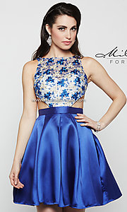 Short Blue Milano Formals Homecoming Dress