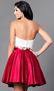 Image of short two-piece Dave & Johnny homecoming dress. Style: DJ-A4895 Back Image