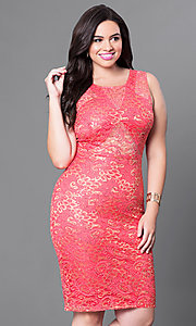 Sleeveless Knee Length Plus Size Party Dress