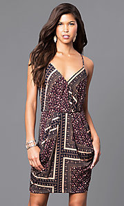 Spaghetti Strap Print Party Dress