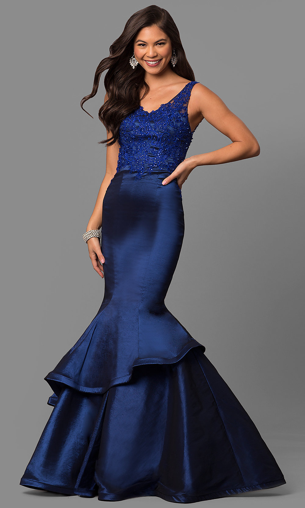 Formal Mermaid Prom Dress 2018 With V Neck Promgirl