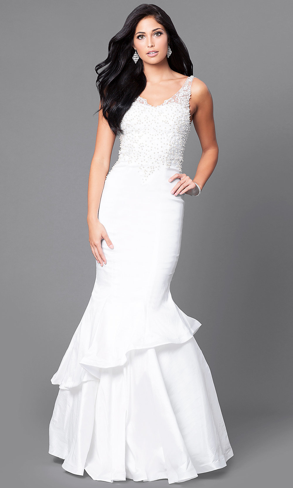 Formal Mermaid Prom Dress 2019 with V-Neck -PromGirl