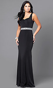 Long Formal Dress with Sleeveless Bodice