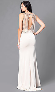 Classic Long Prom Dress with Embellished Back