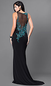 Sleeveless Floor length Dress with Beading
