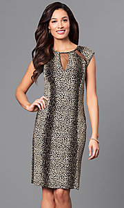 Knee Length Animal Print Party Dress