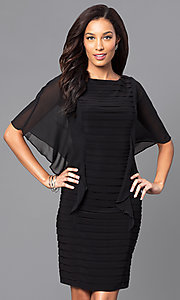 Black Knee-Length Bandage-Style Party Dress