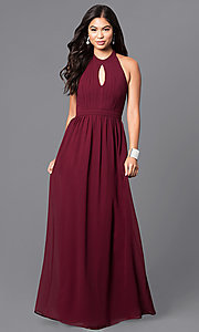 Long Prom with Keyhole Front Halter