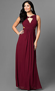 Long Prom Dress with Keyhole Front