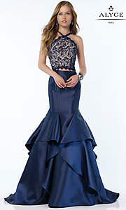 Mermaid Style Alyce Long Two Piece Prom Dress