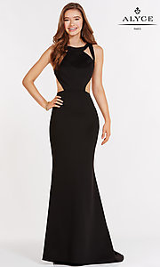High Neck Alyce Prom Dress with Cut Outs