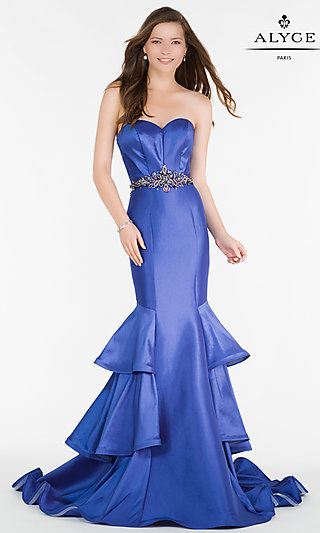 Long Alyce Strapless Mermaid Prom Dress