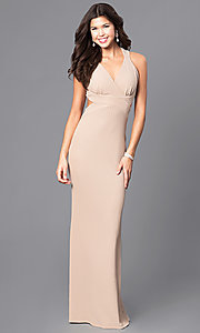 Long Prom Surplice V-Neck Dress