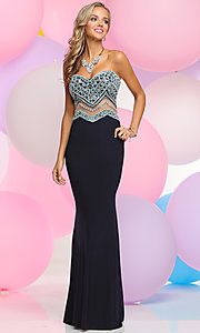 Prom Dress with Embellished Strapless Bodice