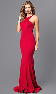 Long Mermaid Prom Dress with Low Cut-Out Back