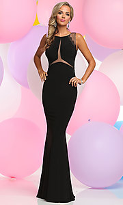 Scoop Neck Long Prom Dress with Open Back
