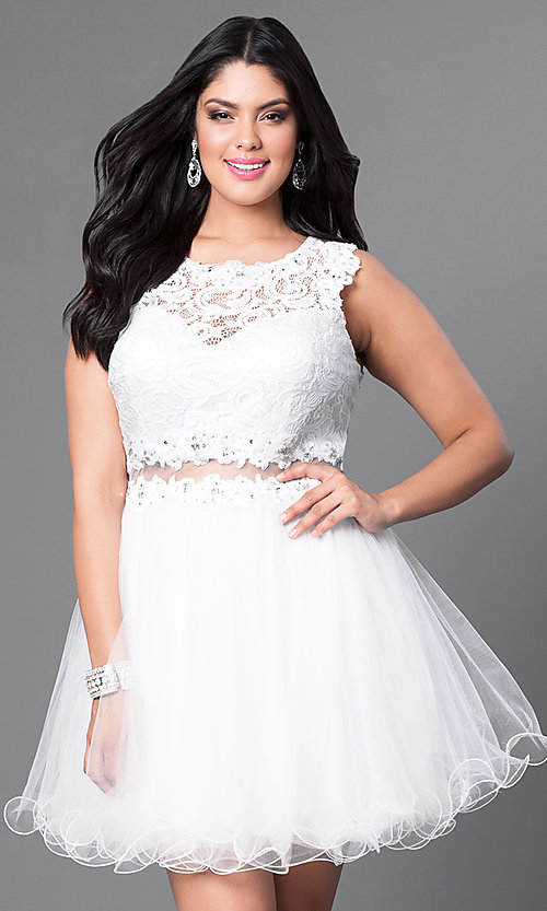 Black and white formal dress plus size