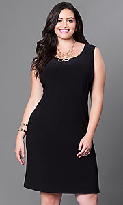 Sleeveless Short Sheath Semi-Casual Plus Size Dress