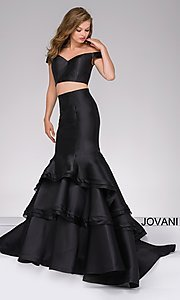 Two-Piece Jovani Mermaid Long Prom Dress