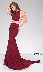Jovani Two-Piece Long Prom Dress