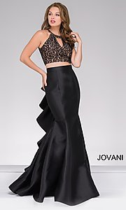Two-Piece Jovani Prom Dress with Lace Top