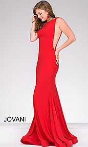 Open-Back Jersey Prom Dress by Jovani