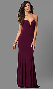 Low-Cut Jovani Prom Dress with Removable Straps