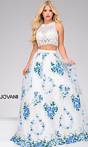 Two-Piece Embroidered Dress by Jovani
