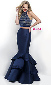 Long Two Piece Mermaid Style Prom Dress