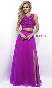 Long Two Piece Tulle Prom Dress by Blush