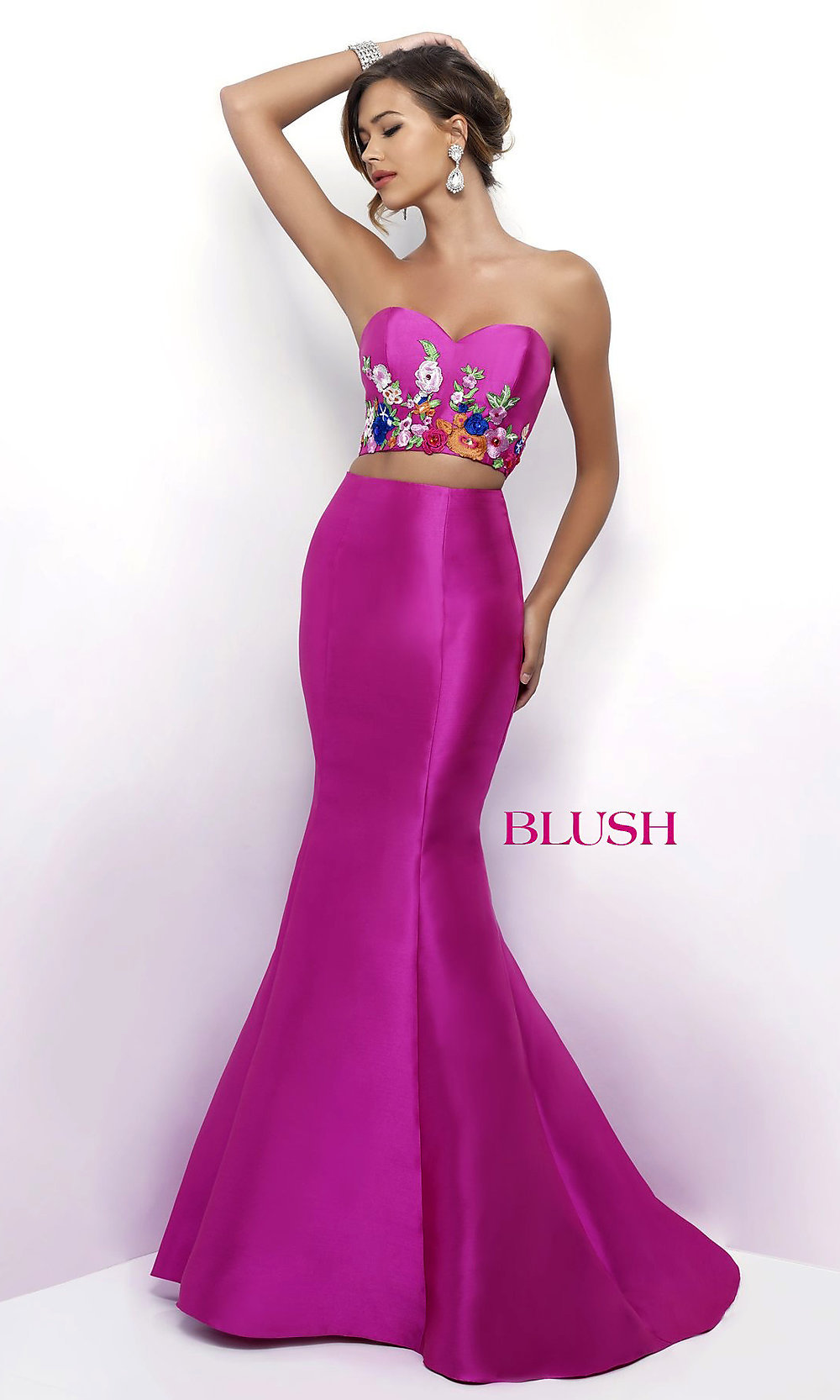 Pink and Silver Evening Gowns