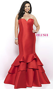 Plus Size Mermaid Style Long Prom Dress