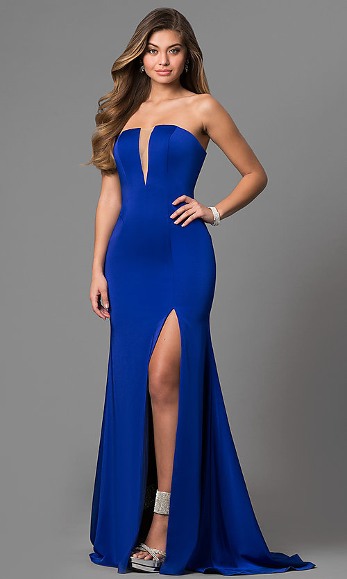 Illusion V Neck Long Jovani Prom Dress 2019 Promgirl